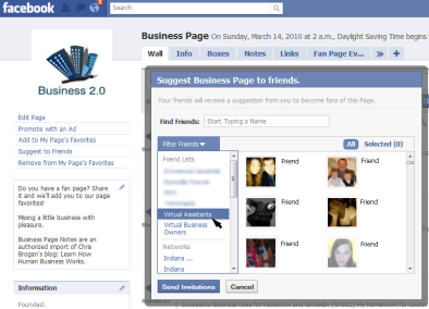 Business 2.0 Fan Page on Facebook