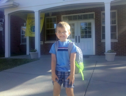 Ryans 1st day of preschool